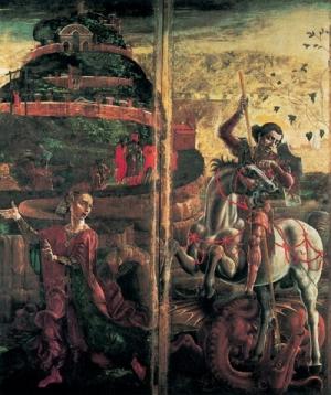 Cosmè Tura, San Giorgio, la principessa