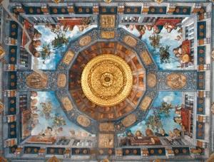 The frescoes in the sala del Tesoro
